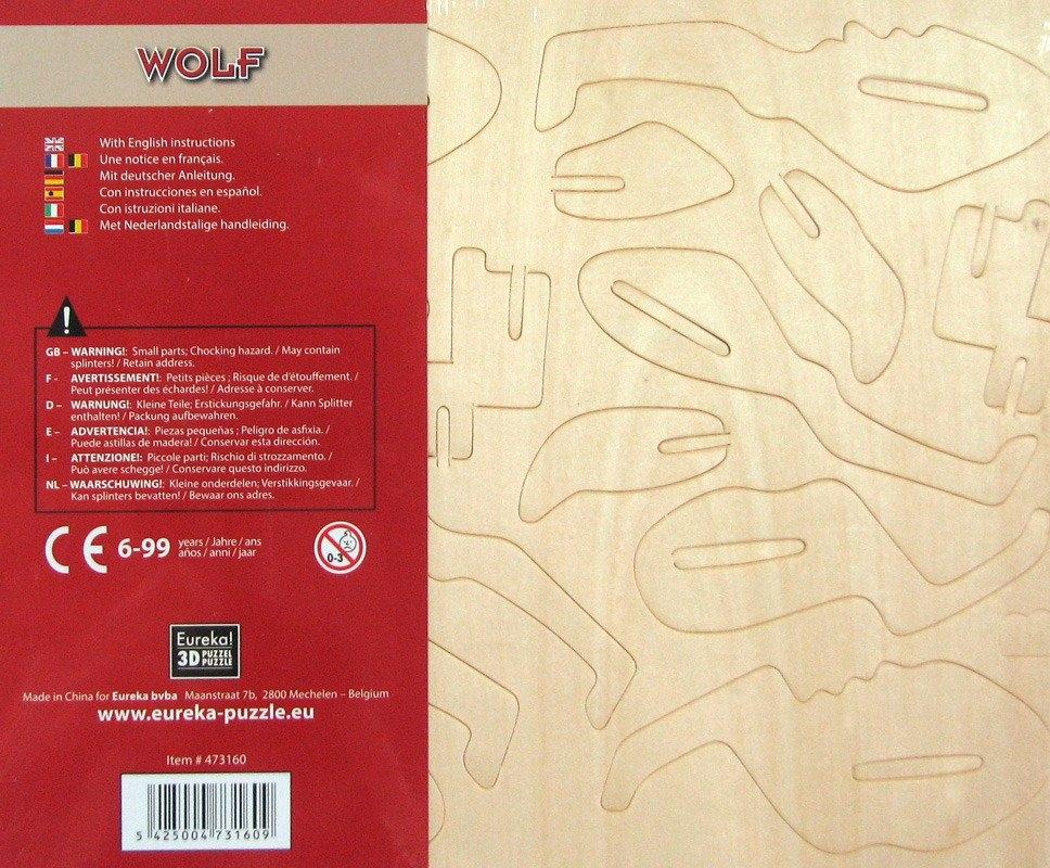 Łamigłówka drewniana Gepetto - Wilk (105681)