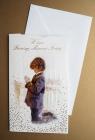 Karnet Komunia Święta z kopertą + kieszeń na pieniądze