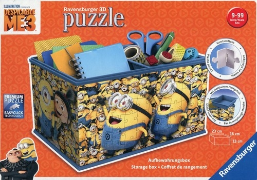 Puzzle 3D Kuferek na skarby Minionki 216 elementów (112609)