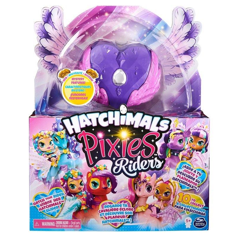 Hatchimals Pixies Riders: Wróżka Black Glitter Lily i Seastallion Glider (6058551/20127520)