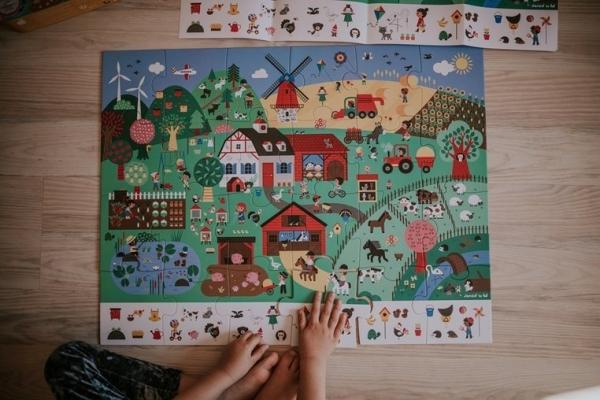 Puzzle obserwacyjne w walizce 24: Farma (J02660)