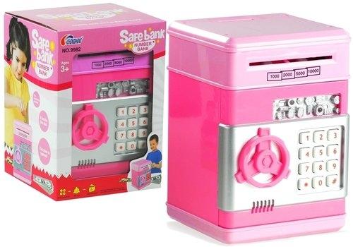 Sejf Bankomat Efekty dźwiękowe różowy
