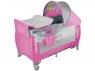 Łóżeczko turystyczne LO_SVEN PLUS pink/grey (50610)