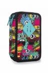 CoolPack - Jumper 3 - Piórnik potrójny z wyposażeniem - Wiggly eyes pink