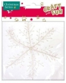 Ozdoba dekoracyjna płatek śniegu 21cm