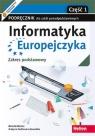 Informatyka Europejczyka. Podręcznik cz1 dla szkół ponadpodstawowych. Zakres podstawowy. Część 1
