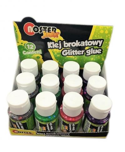 Klej brokatowy confetti 40g (12szt) NOSTER