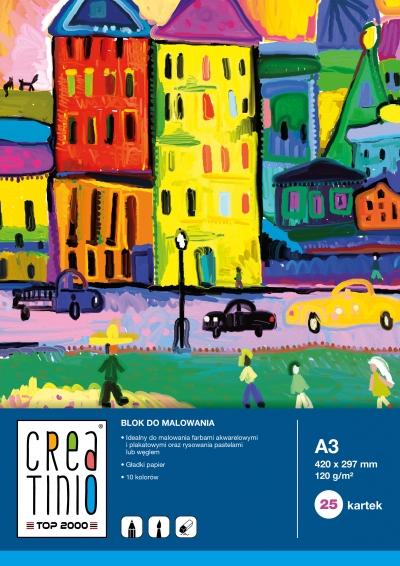 Blok do malowania Creatinio A4/25k - biały (400079858)