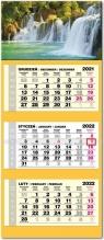 Kalendarz 2022 trójdzielny lux Wodospad