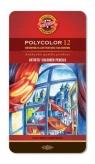 Kredki Polycolor 12 kolorów Oprawa metalowa
