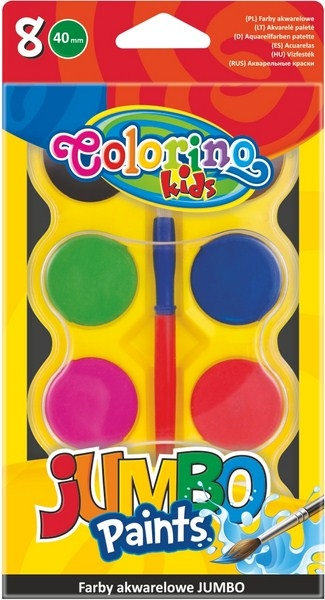 Farby akwarelowe 8 kolorów Jumbo