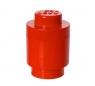 Lego, okrągły pojemnik klocek Brick 1 - Czerwony (40301730)