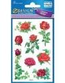 Naklejki papierowe z kwiatkami. Róża