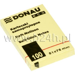 Notesy samoprzylepne Donau Eco 51x76 (7592001PL-11)