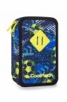 CoolPack - Jumper 3 - Piórnik potrójny z wyposażeniem - Football blue