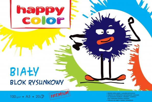 Blok rysunkowy Happy Color A3/20k - biały (298502)