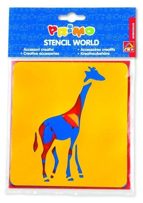 Szablony do farb Primo zwierzęta 6 sztuk
