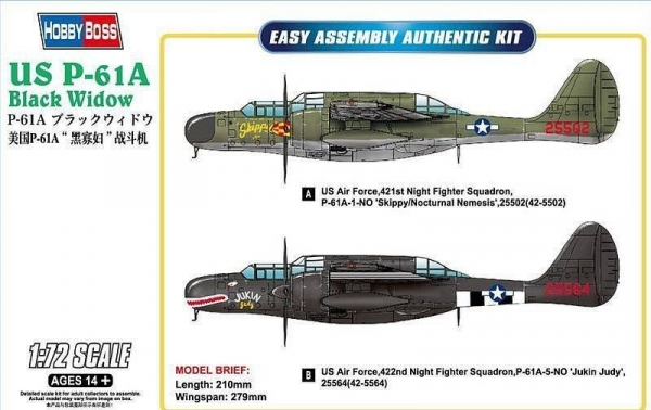 Model do sklejania US P-61A Black Widow (87261)