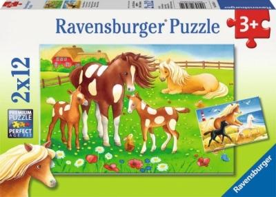 Puzzle 2X12 Zwierzęta na łace (075614) RAP075614