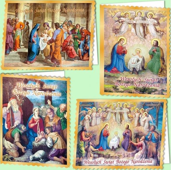 Karnet B6 Boże Nar. Z opłatkiem Religia (10sz) MIX