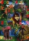 Zeszyt A5 Top-2000 w trzy linie 16 kartek Zoo mix