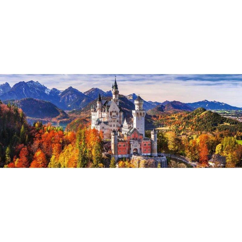 Puzzle 1000: Panorama - Zamek Neuschwanstein (15161)