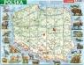 Puzzle ramkowe 72: Polska, mapa fizyczna