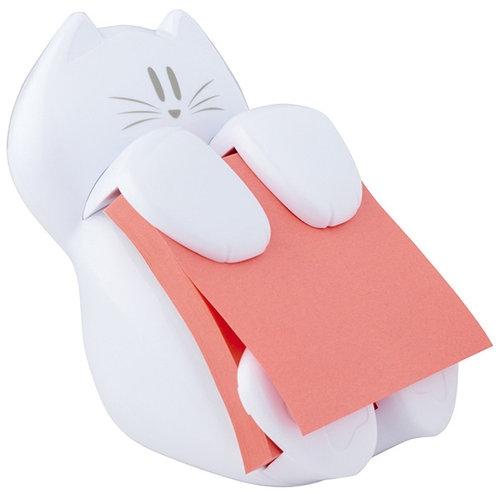 Podajnik do bloczków samoprzylepnych POST-IT Kotek (CAT-330), biały+ 1 bloczek Super Sticky Z-Note