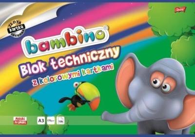 BLOK TECHNICZNY A3 KOLOROWY BAMBINO 50668