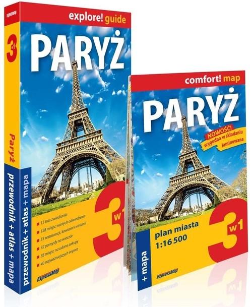 Paryż 3w1 Przewodnik + atlas + mapa