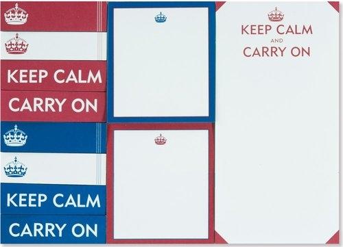 Karteczki indeksujące Zachowaj spokój