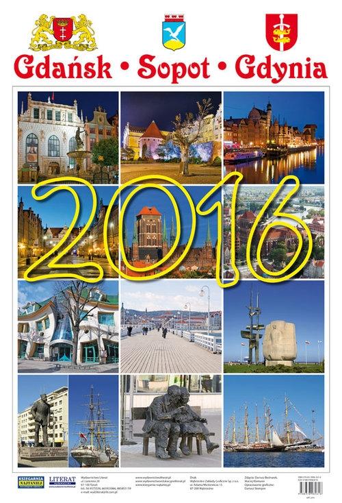 Kalendarz ścienny 2016 Gdańsk Sopot Gdynia Stompor Dariusz