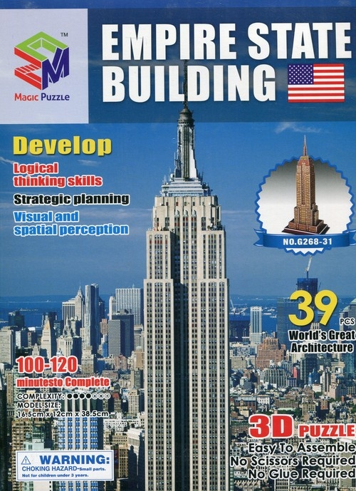 Puzzle 3D Budowle Empire state Tower Bridge 41