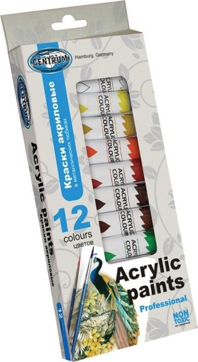 Farby akrylowe 12 kolorów 12ml