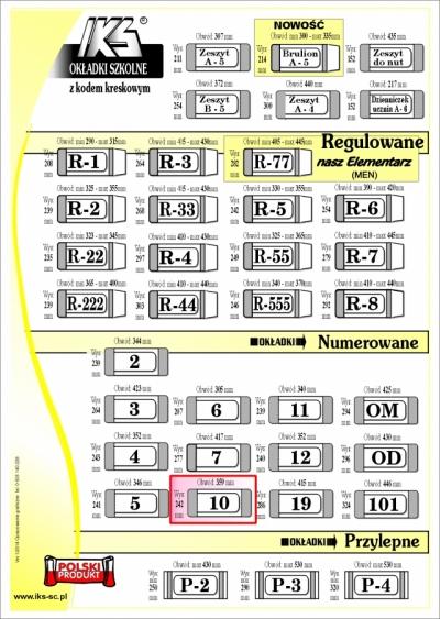 OKŁADKI KSIĄŻKOWE nr 10 - IKS /50/ IKS