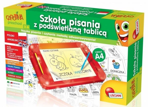 Carotina Szkoła pisania z podświetlaną tablicą