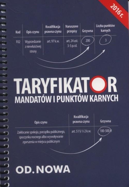 Taryfikator mandatów i punktów karnych 2016 Wyciszczak Anna