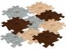 Mata podłogowa sensoryczna - 9 elementów, korzenie (116228) Wiek: 1+