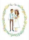 Karnet B6 Ślub - Młoda para