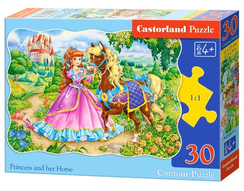 Puzzle konturowe 30: Princess and her Horse