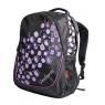 Plecak Venturio czarny z fioletowym motywem
