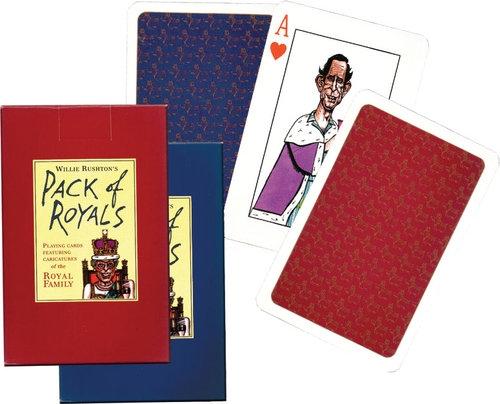Karty do gry Piatnik 1 talia Rodzina Królewska w Karykaturze 1 talia