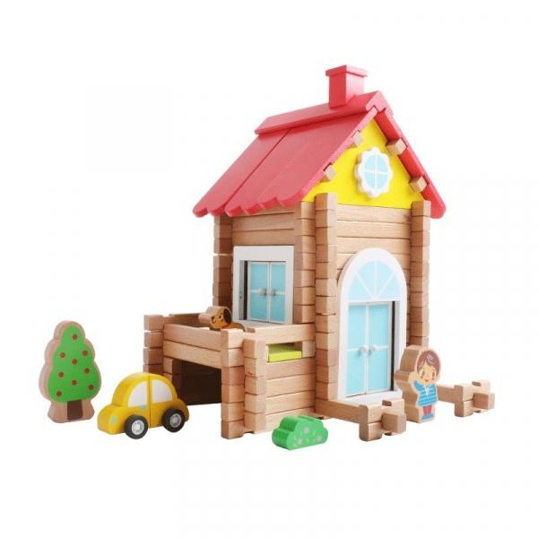 Klocki drewniane konstrukcyjne Dom (15016)