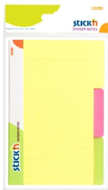 Przekładki samoprzylepne neonowe, 3 kolory indeksów