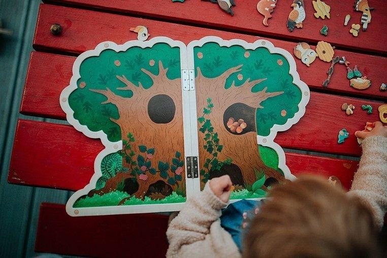 Układanka drewniana magnetyczna z 30 magnesami Drzewo (J05461)
