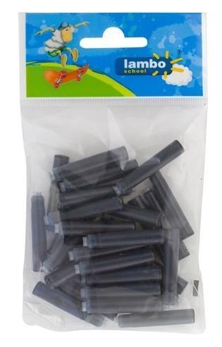 Naboje atramentowe czarne 30 sztuk LAMBO
