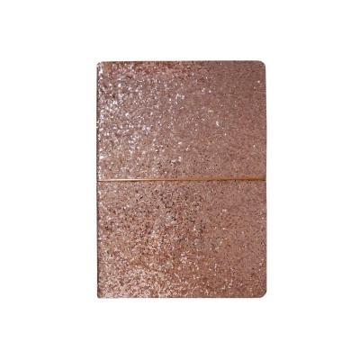 Notes A5/96K różowy brokat