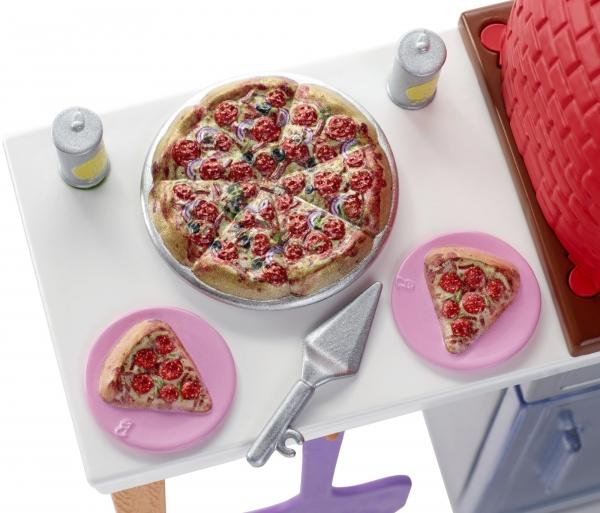 Barbie: Zestaw ogrodowy - ogrodowy piec do pizzy