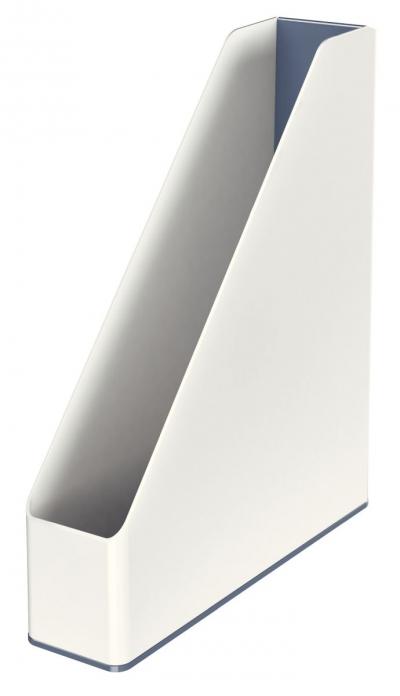 Pojemnik na dokumenty pionowy Leitz WOW DUAL - biały 73 mm x 318 mm x 272 mm (53621001)