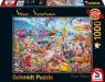 Puzzle PQ 1000 Zwierzaki na plaży (Beach Mania) G3